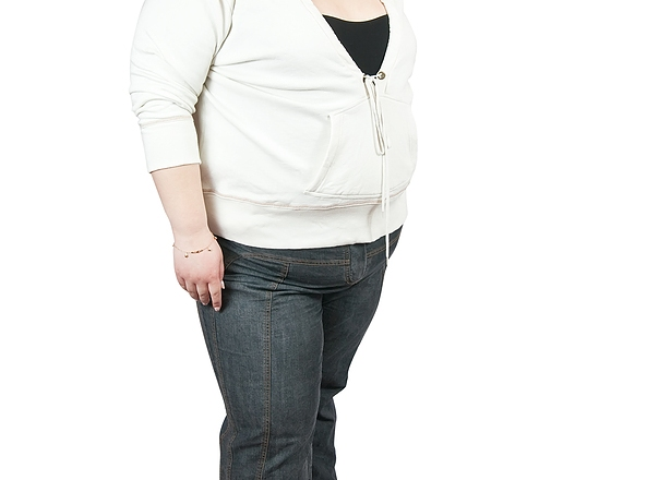 Large woman losing weight