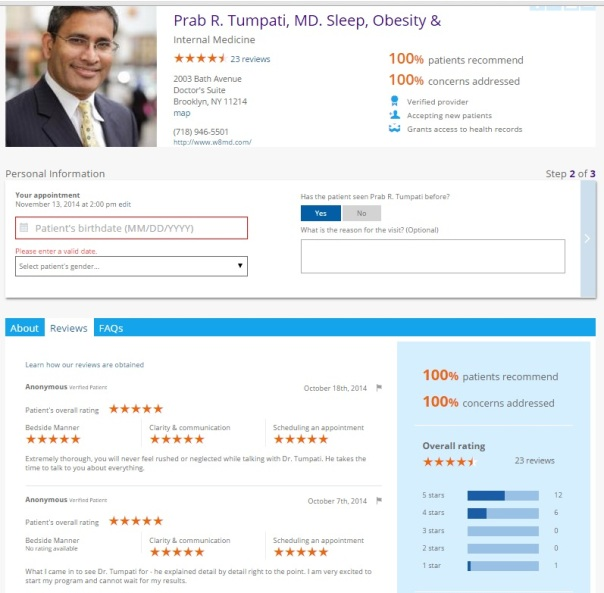 Dr Prab R Tumpati weight loss and sleep doctor patient reviews