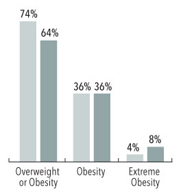 obesity graph bySex