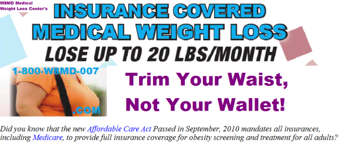 Losing weight with Obamacare insurance